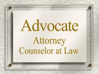 Counselor at law signage